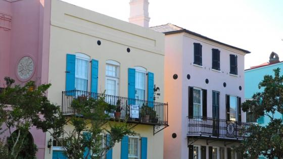 Living In Charleston Rainbow Row