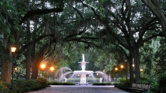 downtown Savannah parks