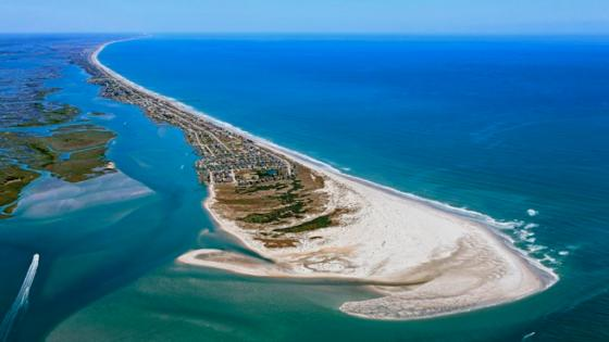 Topsail Island aerial view