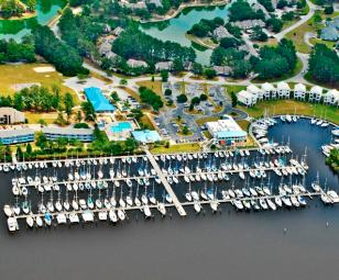 Fairfield Harbour New Bern aerial view