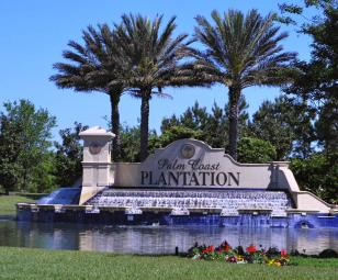 Palm Coast Plantation Gated Entrance