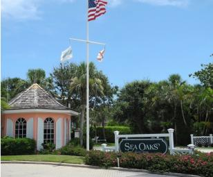 Sea Oaks gated entrance Vero Beach