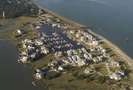 Bald Head Island NC Aerial View