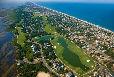 aerial view of Currituck Club