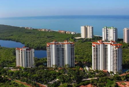 Pelican Bay Naples FL Aerial View