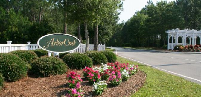 Arbor Creek Plantation Southport NC Entrance