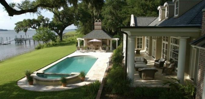 waterfront homes Colleton River