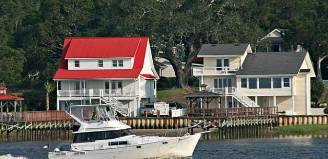 waterfront homes Southport NC
