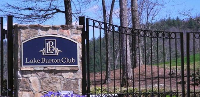Clayton GA Homes Lake Burton Club Entrance