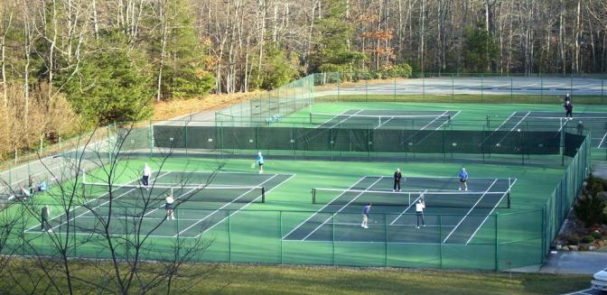 Connestee Falls NC Tennis Courts
