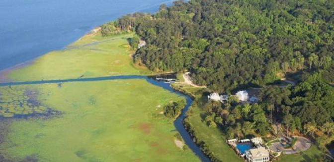 aerial view of Coosaw Point on Ladys Island