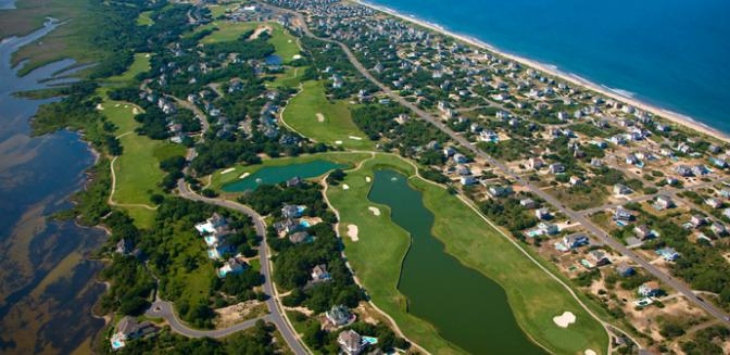 Currituck Club Aerial View Gated Outer Banks Community