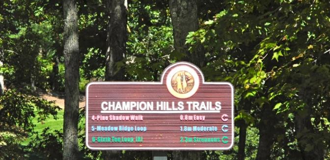 Hendersonville NC Champion Hills Hiking Trails