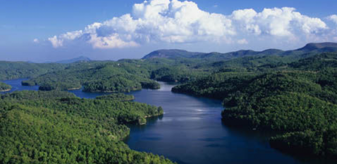 Highlands Cashiers Lake Glenville Aerial View