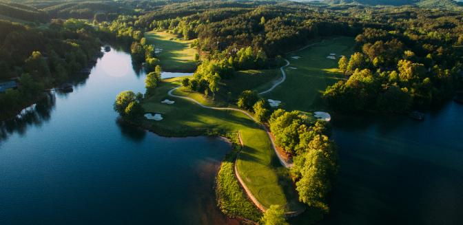 Lake Keowee golf course at The Reserve