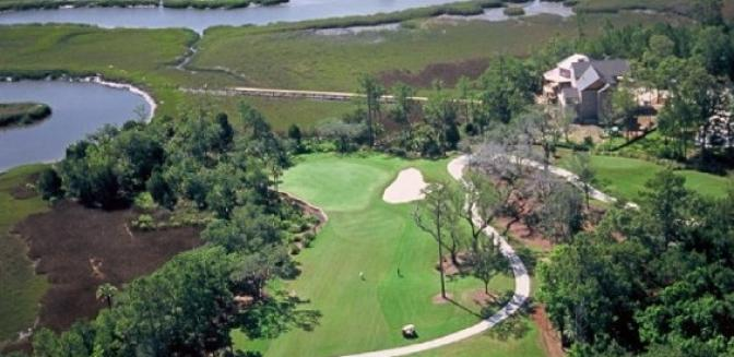 Living In Charleston Rivertowne Golf Course Aerial View