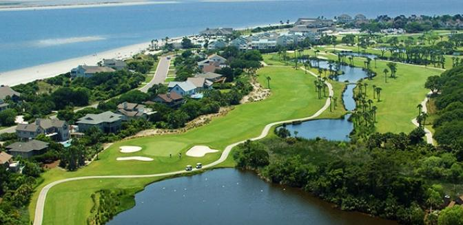 Living In Charleston Seabrook Island Golf Course Aerial View