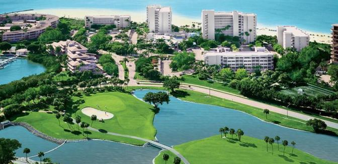 Longboat Key Club FL Aerial View