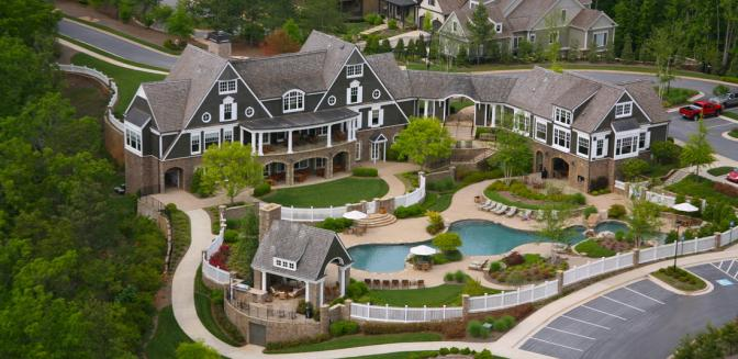 Marina Bay Lake Lanier Clubhouse Aerial