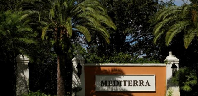 Mediterra Naples Florida Gated Entrance