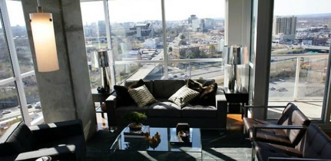 Nashville Neighborhoods Icon Gulch Downtown Living Room