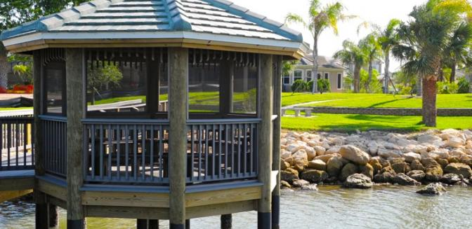 Palm Coast Home Tidelands Waterfront Gazebo