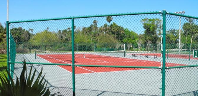 Palm Coast Homes Plantation Tennis Courts
