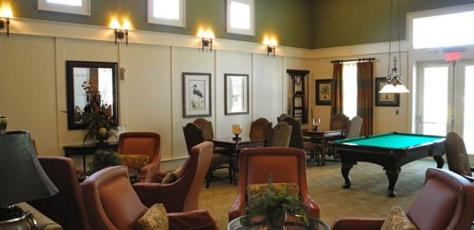 Palm Coast Homes Tidelands Clubhouse Game Room