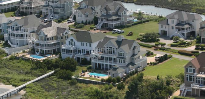 Pirates Cove Gated Outer Banks Marina Community Aerial View