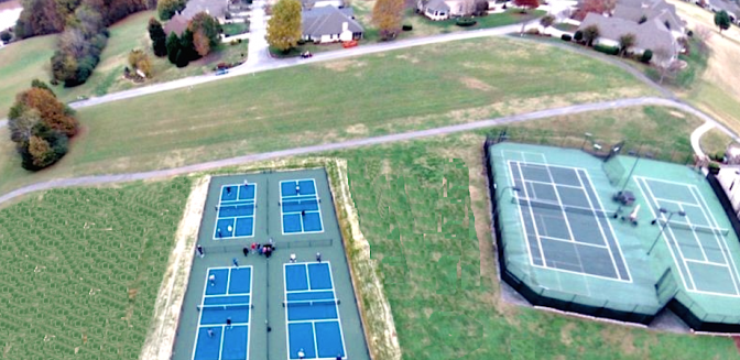 Rarity Bay pickleball courts