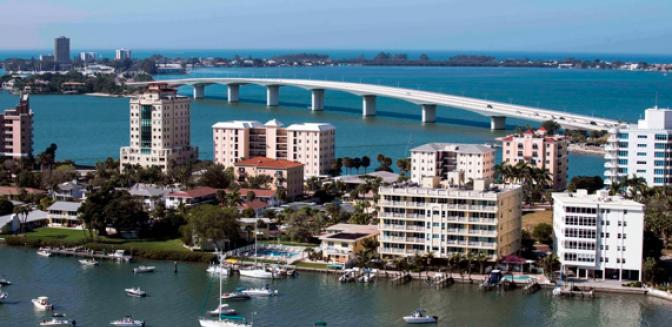 Sarasota FL Aerial View Image By Cliff Roles