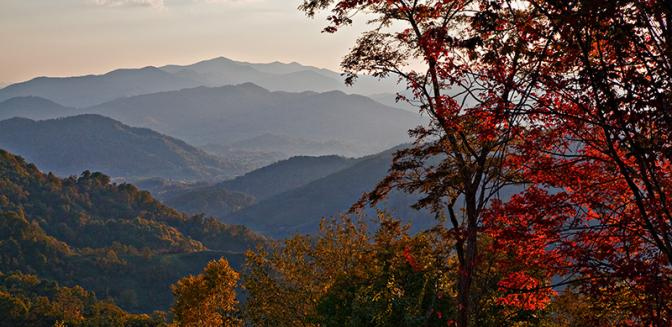 Sunset Falls NC Long Range Views