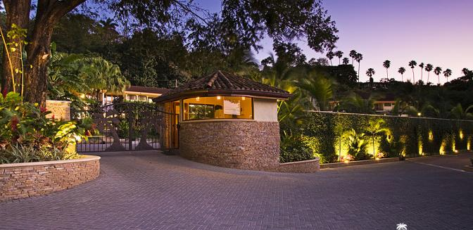The Palms Costa Rica Gated Entrance