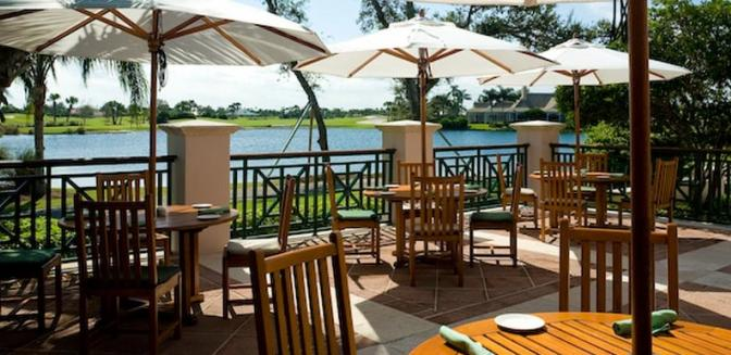 Vero Beach FL Homes Orchid Island Golf Clubhouse Outdoor Dining